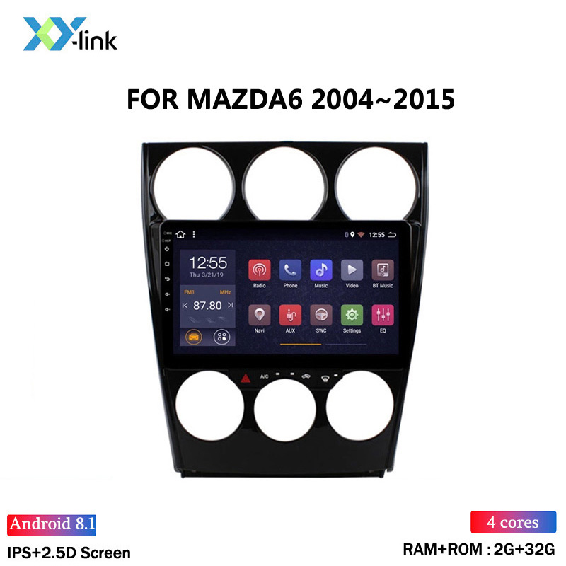 HOT SALE 2.5D 9 inch <font><b>Android</b></font> 8.1 Car <font><b>Radio</b></font> DVD Player for <font><b>MAZDA</b></font> <font><b>6</b></font> 2004-2015 GPS Glonass Navigation Audio Video SWC image