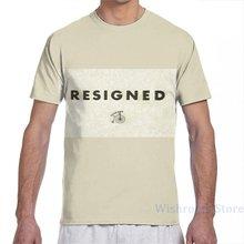 O prisioneiro-resignado homem camiseta feminina todo impressão moda menina t camisa menino topos camisetas de manga curta