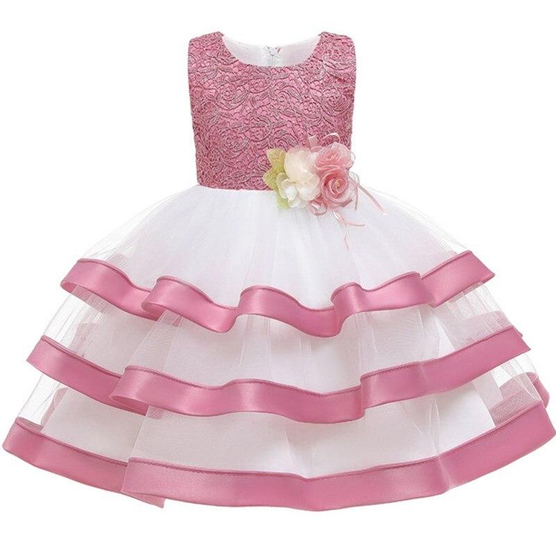 Flower     Girl     Dress   Baptismal   Dress   for Infant Petal Elegant Lace Tutu   Girls   Wedding   Dresses   3-10 Years Princess Baby   Girl     Dress
