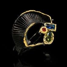 Женское тонкое кольцо с радужными кристаллами классическое обручальное