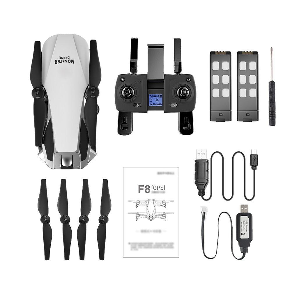 F8 GPS pliable RC Drone 120 degrés 1080P WiFi HD réglable caméra moteur sans balais retour automatique RC avion hélicoptère