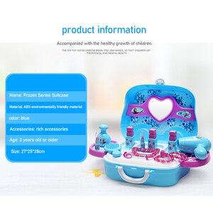 Image 5 - Disney, brinquedos para meninas, princesa, frozen, vestidos, maquiagem, conjunto, brinquedos infantis brinquedos, brinquedos