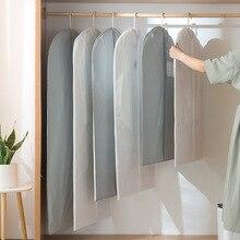 1 шт. утолщенный твердый PEVA пылезащитный чехол для одежды костюм пальто водонепроницаемый протектор сумка для хранения на молнии