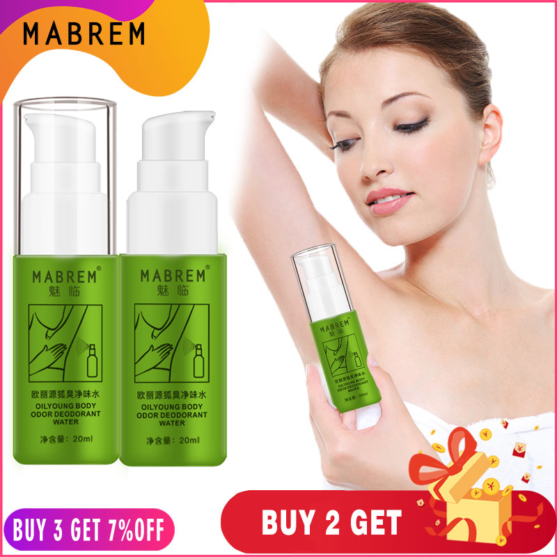 2PCS MABREM Body Odor Sweat Deodor Perfume Spray For Man And Woman Removes Armpit Odor And Sweaty Lasting Aroma Skin Care Spray