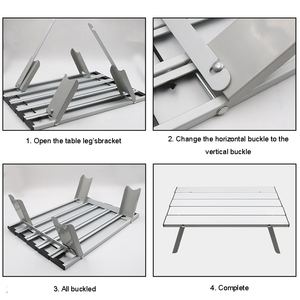 Image 5 - Light Aluminum Alloy Portable Table Neat Furniture Foldable Folding Camping Hiking Desk Traveling Outdoor Picnic Furniture