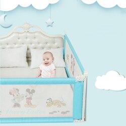 Дисней детская кровать рельсы Младенцы манеж кровать забор защитные ворота кроватки барьеры для детей новорожденных кровати продукты безо...