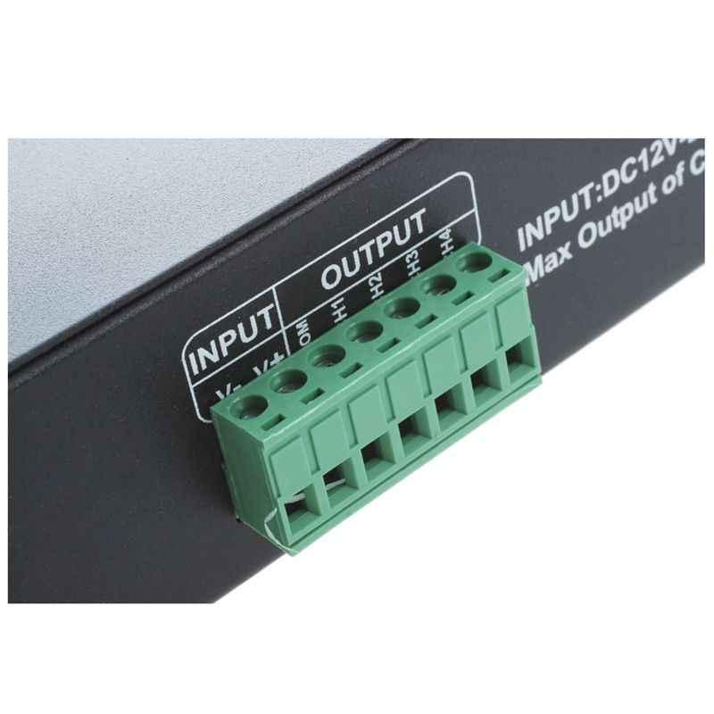 DMX 512 4CH x 8A فك وحدة تحكم LED 4 قناة سائق RGBW LED الشريط تيار مستمر 12 فولت-24 فولت