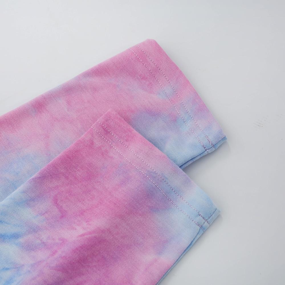 Sexy Short Tops Tie Dye Shirts Women Butterfly Print Long Sleeve Tshirt Women Gradient Patchwok Contrast Top Streetwear 2020