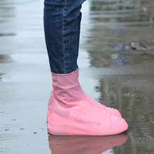 Waterproof Shoe Covers Fashion Rain Boots Women Outdoor Non-Slip Silicone Shoe Covers Man Reusable Rubber Boots(China)