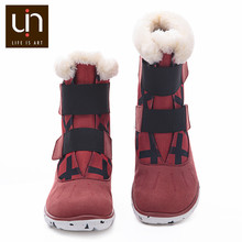 UIN Ashmole Series Warm Fur Boots for Women/Men Microfiber Suede Boots Outdoor Autumn/Winter Shoes Ladies Super Lightweight(China)