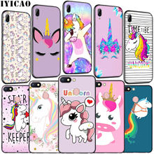 IYICAO Horse Unicorn On Rainbow Soft Silicone Phone Case for Xiaomi Redmi K20 GO 8A 7A 6A 5A 4A 4X Note 8 7 6 Pro 5 Plus Cover(China)