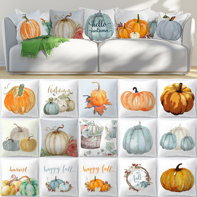 Cover Home Case  Pillow Waist Cushion Halloween Pumpkin  Fall NEW Throw