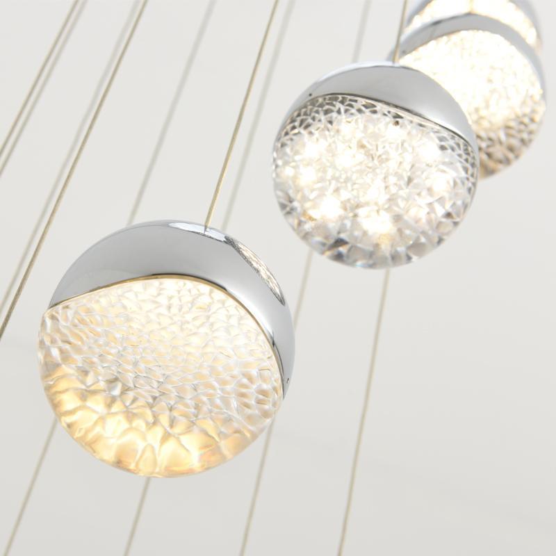 Modern Glass Cyrstal Pendant Lights For Living Room Stair Hotel Loft Dining Room Art De Hanging Lamp Kitchen Pendant Lamp Lustre