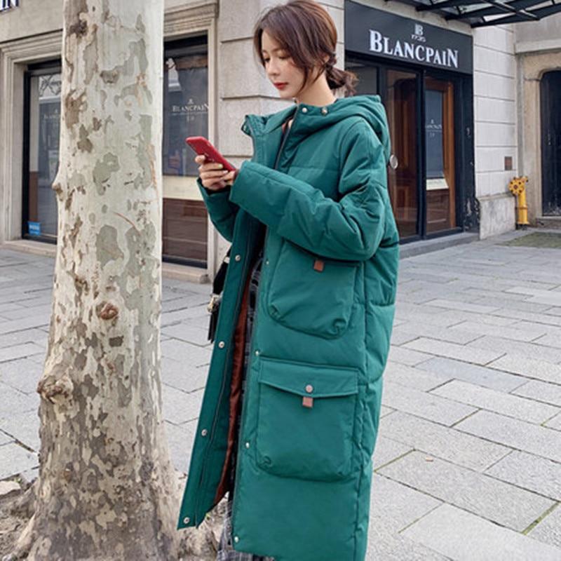 Down Coat Women Winter Jacket Women Long Thick Large Size Cotton Coat Korean Version Loose Cotton Clothing Casual Parka