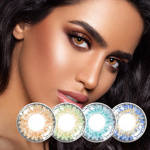 Free shipping Colorful Natural Contact Lenses For Eyes Fresh-series Colored Yearly Blue Brown Colorful Beauty Contact Eye