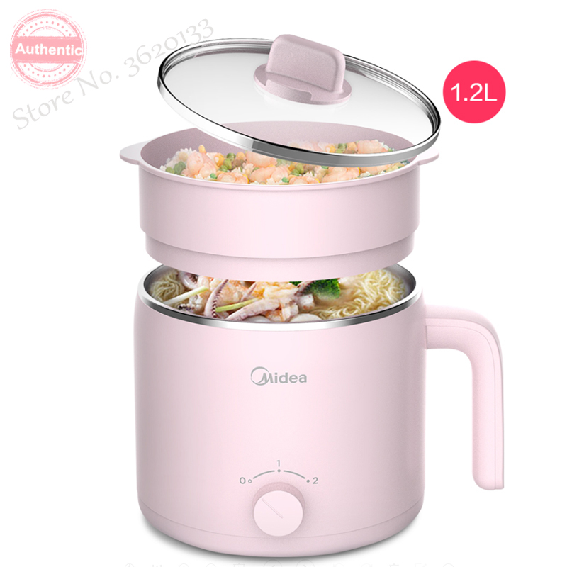 2 layers electric cooker hot pot  Multi Cookers PP & stainless steel Firepower adjustable with Touch panel 1.2L