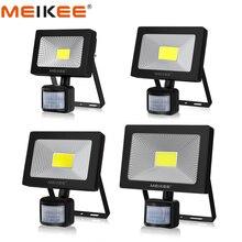 10W 20W 30W 50W LED מבול אור חיישן תנועה עמיד למים AC110 220V LED PIR הארה רפלקטור מקרן חיצוני זרקור