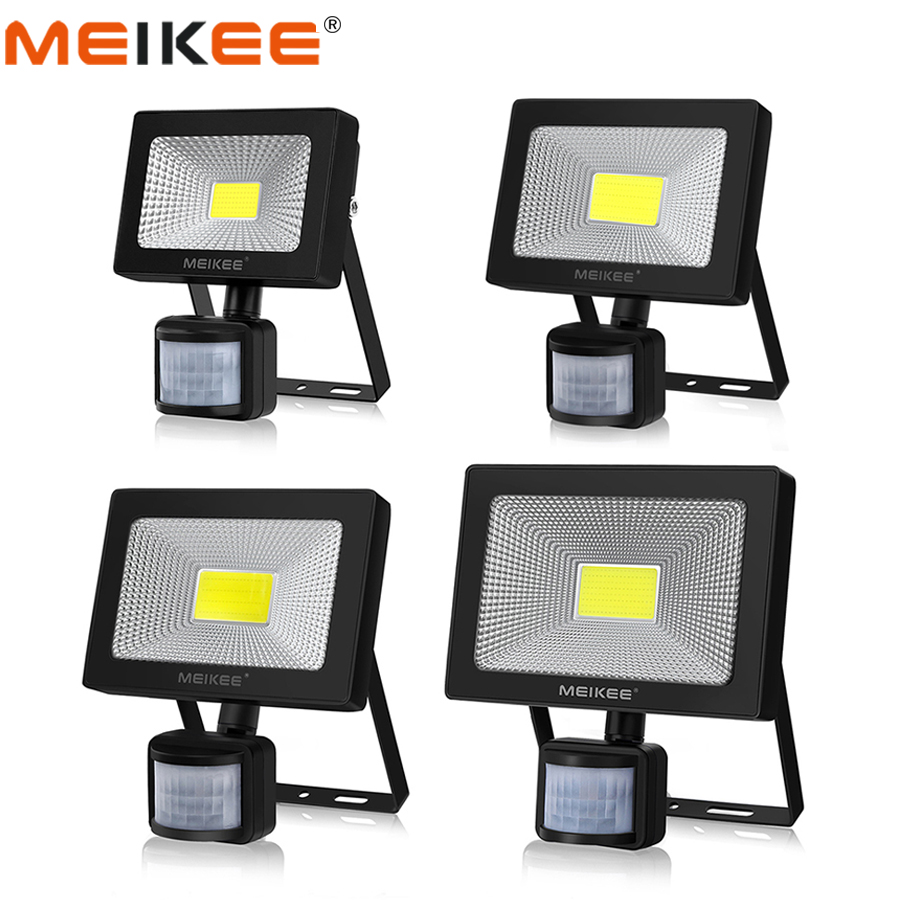 10W 20W 30W 50W LED Flood Light Motion Sensor Waterproof AC110-220V LED PIR Floodlight Reflector Projector Outdoor Spotlight