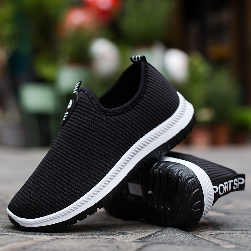 Mesh Running Shoes One Foot Men's Old Beijing Sneakers Breathable Casual Non-slip Sport Shoes Men Single Shoe Walking Low-top