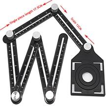 New Construction Multi Angle Measuring Ruler Aluminum Folding Positioning Ruler Professional DIY Wood Tile Flooring Tool недорого