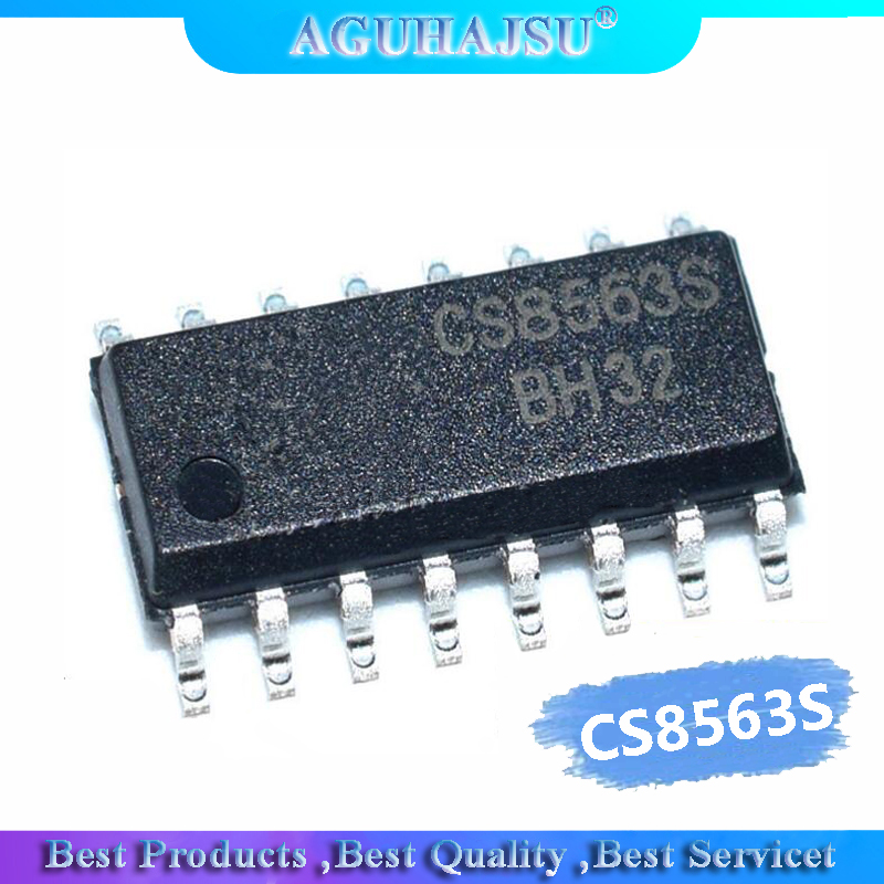 5 pces cs8563s 4.5w amplificador de áudio classe d ic chip cs8563 sop16