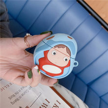 3D Japan Leuke Cartoon Miyazaki Hayao Ponyo on The Cliff Hoofdtelefoon Huid Gevallen box Voor Apple Airpods 1/2 Siliconen Bescherming cover(China)