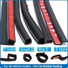 4Meter Big D Z P Type Auto Door Seal Strip Stickers Anti Dust Soundproof Sealing Noise Insulation Car Interior Accessories Goods