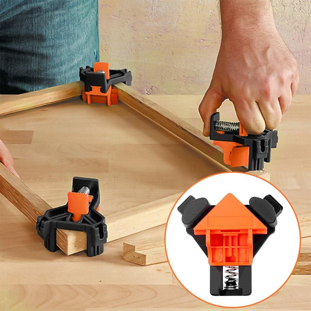 4 pezzi 90 gradi angolo retto morsetto Clip di fissaggio cornice angolo morsetto lavorazione del legno angolo Clip posizionamento strumenti di fissaggio