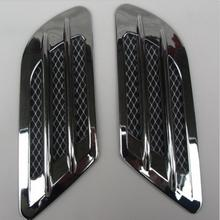 2Pcs/Set High Quality Car Side Air Flow Vent for Fender Hole Cover Intake Grille Duct Decoration ABS Plastic Sticker