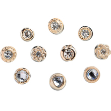 CHIMERA Small Brooch set 10Pcs Fashion Cute Flower Animal Alloy Crystal Brooches Pins for Women Coat Ornament Clothes Accessory creativity fashion animal alloy coat cartoon brooch