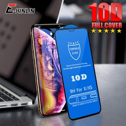 10D Full Cover Curved Tempered Glass For iPhone 8 7 6 6S Plus Screen Protector Film For iPhone 12 mini 11 Pro X XS Max XR SE2