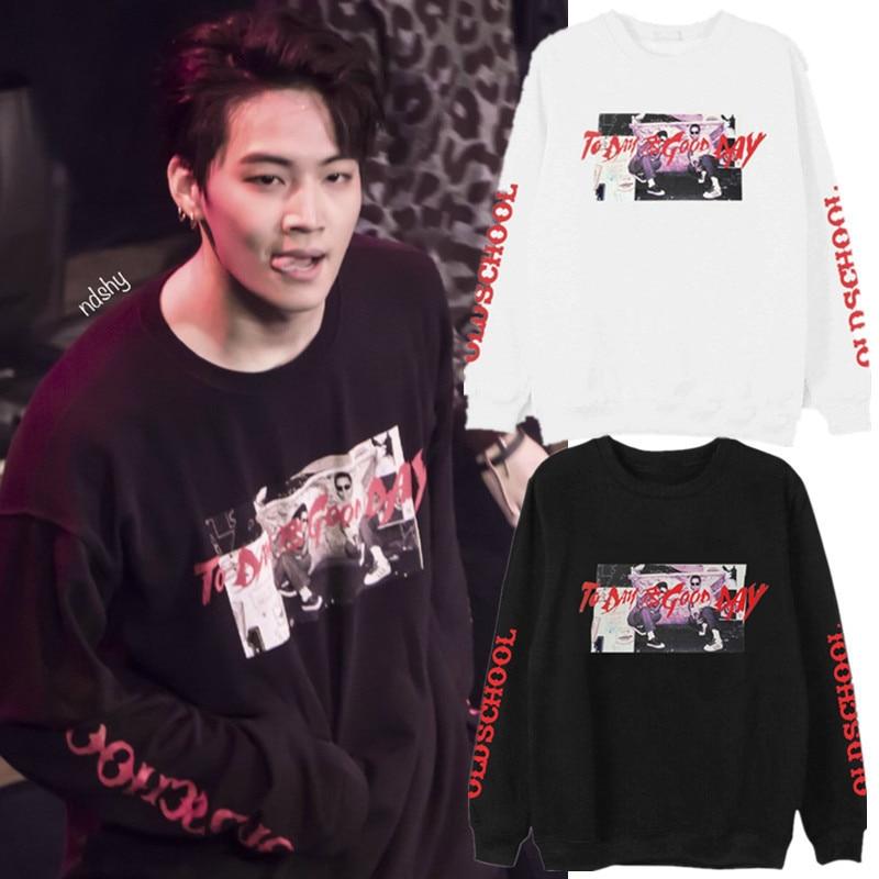 Park Jimin SUGA Got7 Jae Beom JB Sweatshirts Pullovers Men Women Pullover Sweatshirt Streetwear Tops Kpop Idol Clothes