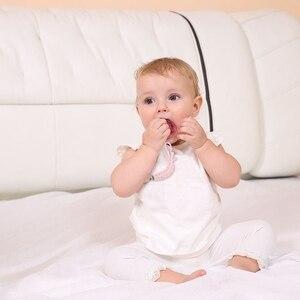 Image 4 - ベビーおしゃぶりクリップチェーン綿 & 木製おしゃぶりクリップ 1pc手作り乳首ホルダーベビーシャワーのギフト安全で環境に配慮ダミークリップ