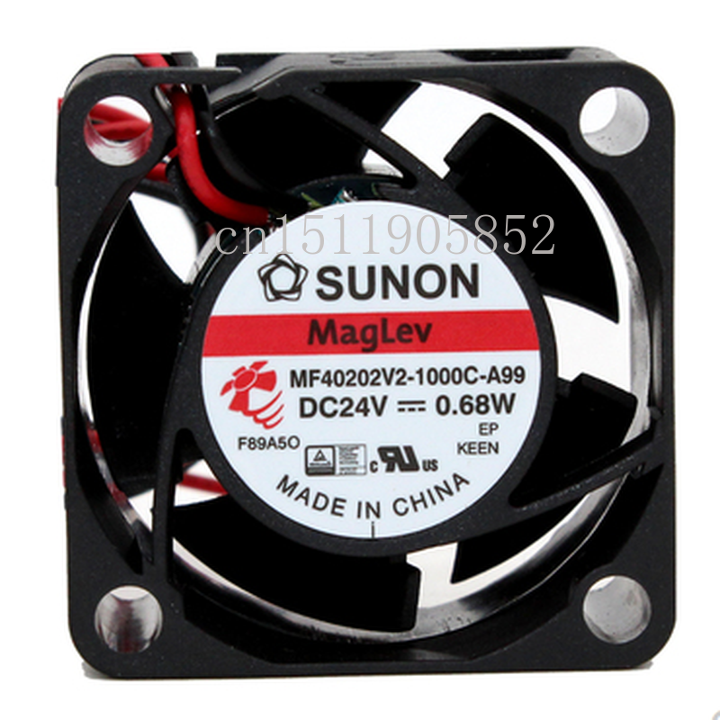 Free Shipping MF40202V2-1000C-A99 Server Cooling Fan DC 24V 0.68W 40x40x20mm 2-wire