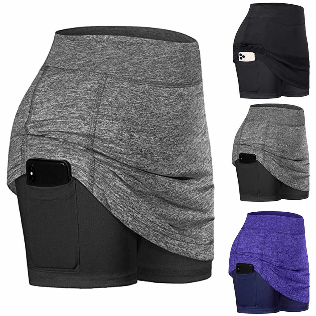 Frauen Sommer Sport Shorts Mini Röcke Aktive Skorts Leistung Rock Laufen Tennis Golf Workout Sport Tennis Rock #3