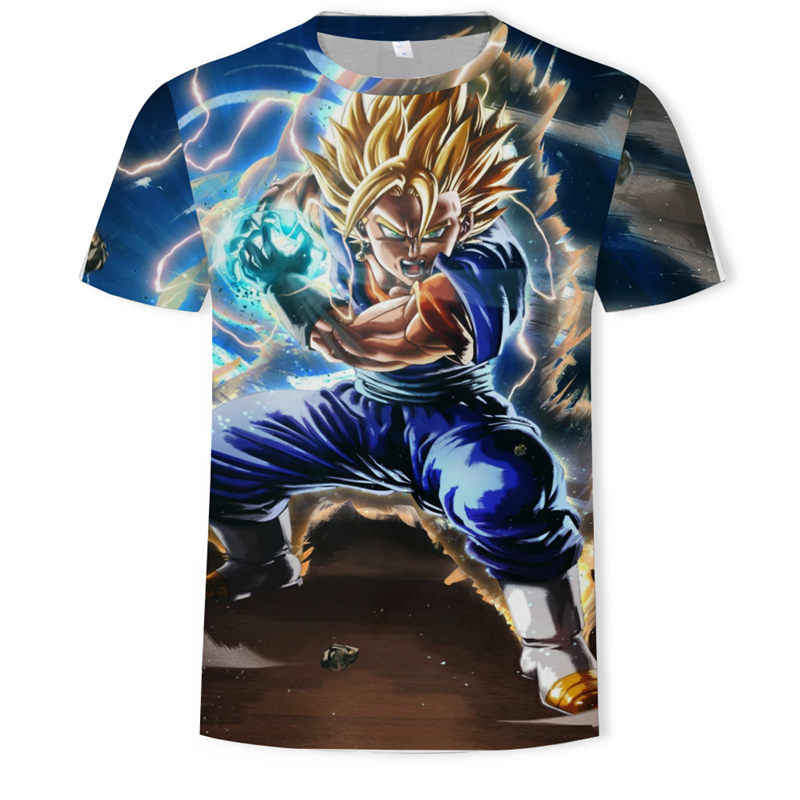 Super Saiyan 3D T-shirt Anime Dragon Ball Z Goku Zomer Mode Tee Tops Mannen Casual Print Kleding Cartoon Elegante t-shirt