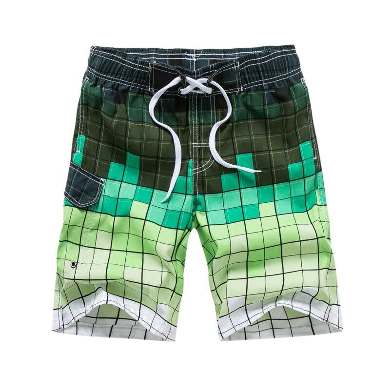 Men's Board Shorts Plaid Printed Elastic Waist Surfing Bermudas Swim Summer Beachwear Masculina De Marca Plus Size 5XL 6XL