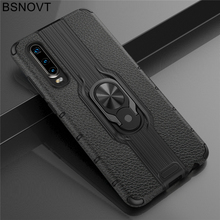 For Huawei P30 Case Soft TPU+PC Phone Finger Holder Hard PC Bumper Cover Funda 6.1 BSNOVT