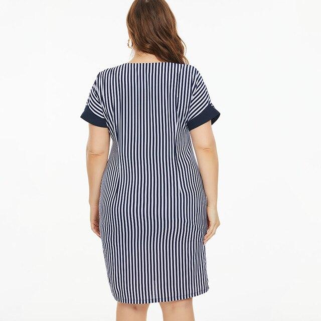 Plus Size stripe dress Vintage & elegant  2