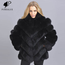 Blue Fox Fur Coats Women New Winter High Quality Real Luxury Full Pelt Thick Natural Outwears Customized Furry Coat Outerwear