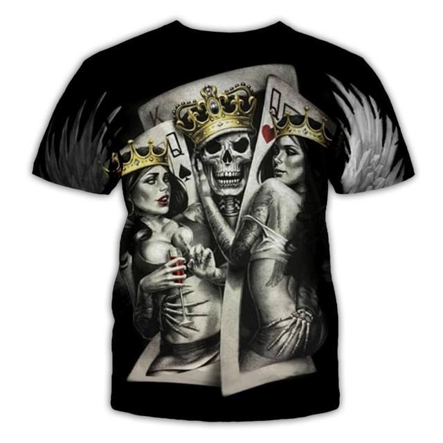 Фото plstar космос череп покер забавные футболки для мужчин популярный цена
