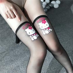 Women's Sheer Sexy Stocking Soft Cotton Girls Medias Ladies Long Stockings Thigh High Socks Sexy Lingerie Lovely Harajuku Style