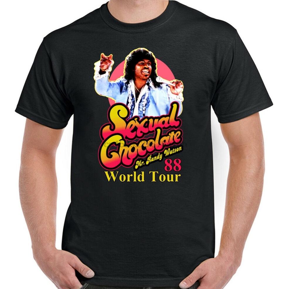 SEXUAL CHOCOLATE T-SHIRT Mens Coming to America Randy Watson World Tour 88 Top 0234T