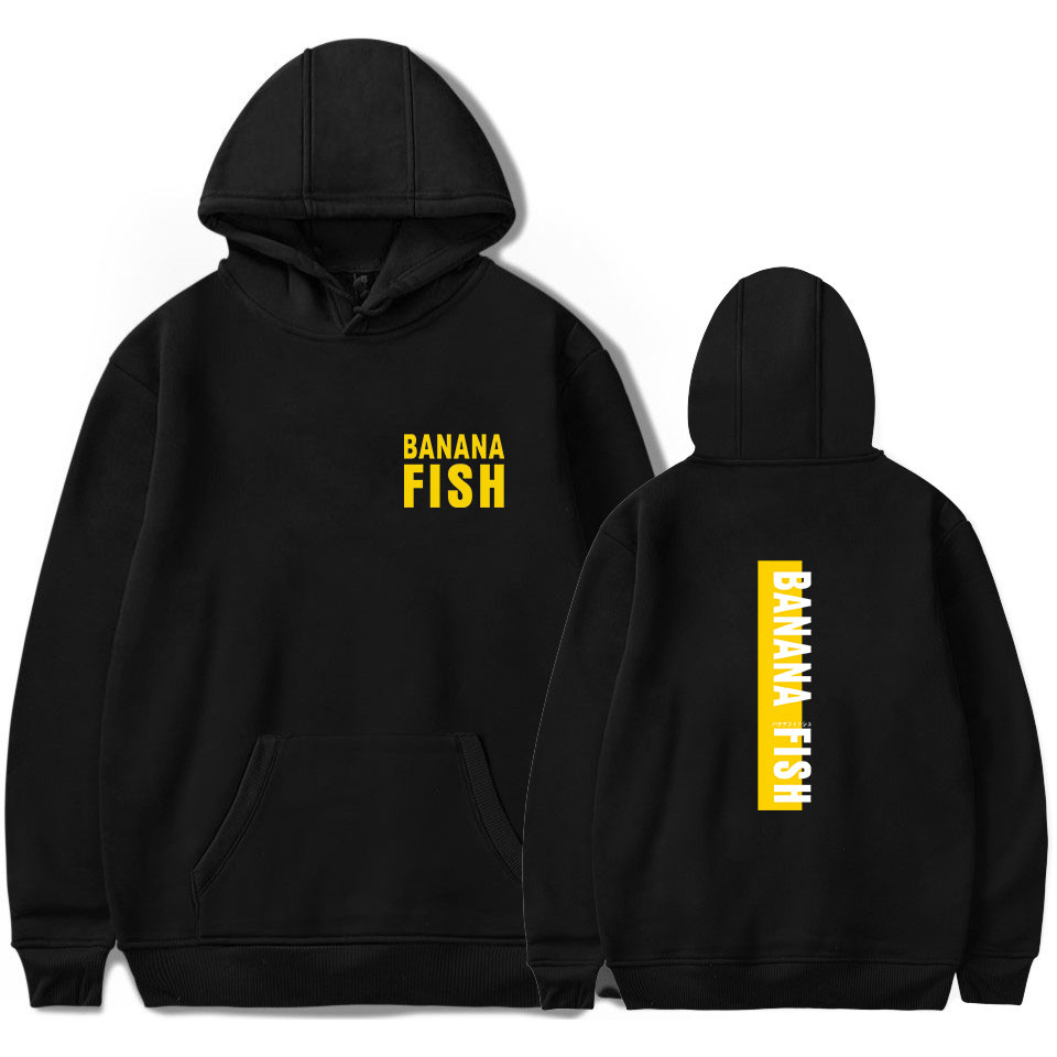 Anime Sweatshirts BANANA FISH Hoodies Men/women Fashion Long Sleeve Hip Hop Harajuku Streetwear Men's Hoodies Kpop Sweatshirts