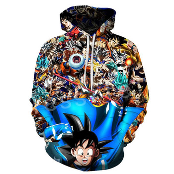 Tessffel Hot Anime super Saiyan Dragon Z Ball GOKU Cartoon Tracksuit 3DPrint pullover Unisex zipper/Hoodies/Jacket Men Women s-3 1