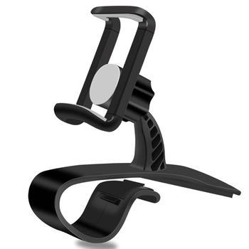 XMXCZKJ Neueste 360 ° Rotation Einstellbar HUD Auto Dashboard Telefon Halter GPS Clamp Clip Stand für Iphone 11 Pro Samsung galaxy S9
