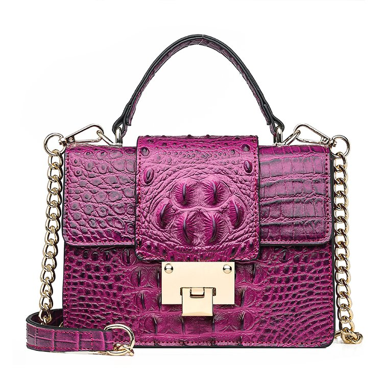 Brand Lady Bag Alligator PU Leather Messenger Bag Designer Chain Crossbody Shoulder Bag Snake Fashion Women Handbag Bolso Mujer