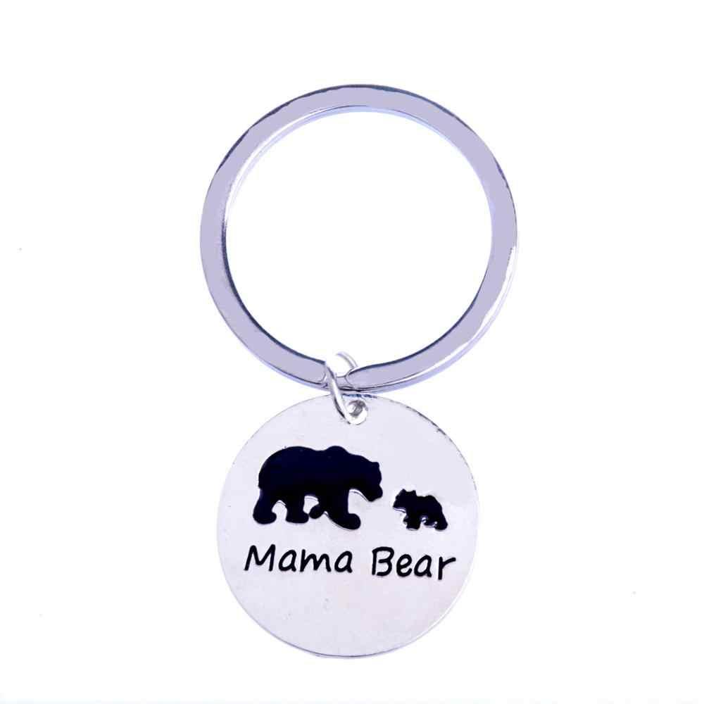 Maman bébé ours porte-clés bijoux maman porte-clés fête des mères cadeaux famille présente fille fils enfants porte-clés charme noël