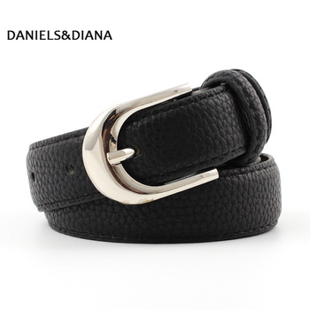 цена на Candy Color Metal Buckle Thin Casual Belt For Women , Leather Belt Female Straps Waistband For Apparel Accessorie