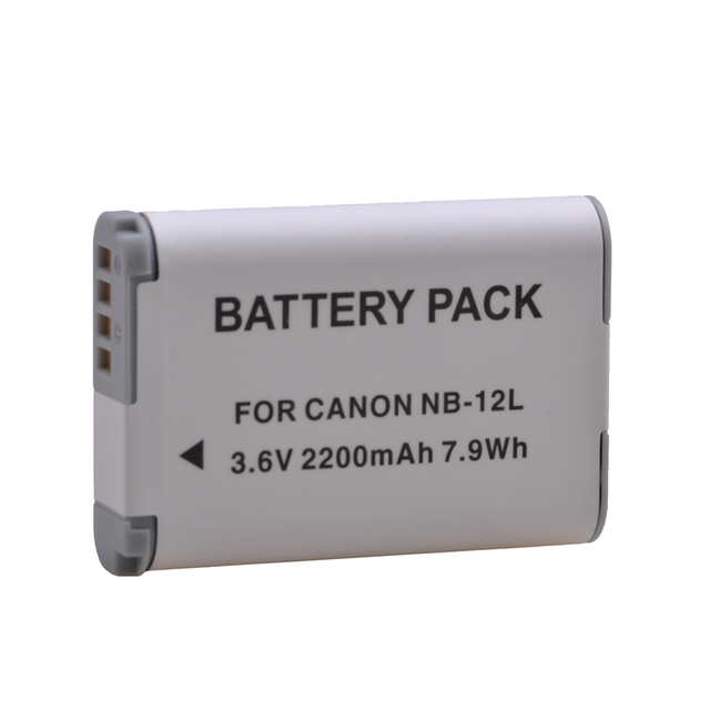 2 pièces 2200mAh NB-12L NB 12L NB12L batterie pour Canon PowerShot G1 X Mark II G1X Mark 2 pour PowerShot N100, N100, VIXIA mini X